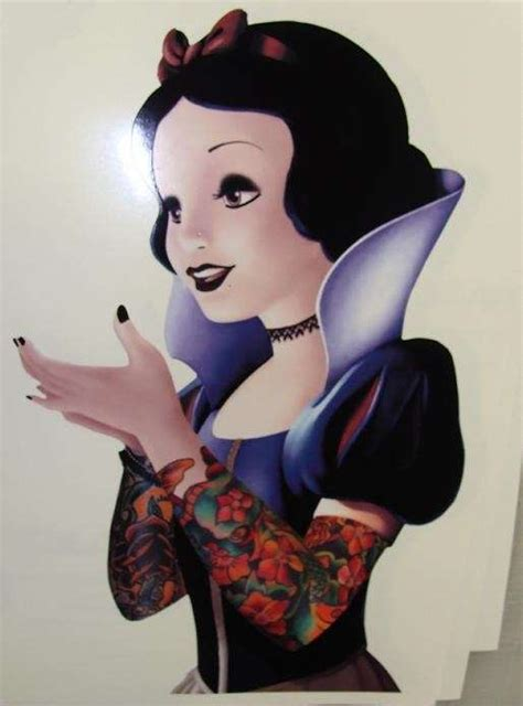 tattooed snow white snow white with tattooed sleeves disney princess photo