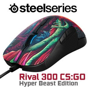 Steelseries Rival 300 Cs Go Limited Edition steelseries rival 300 hyper beast edition gaming mouse