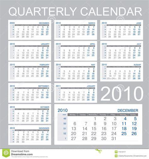 Calendar Quarter Quarter Calendar Royalty Free Stock Photography Image