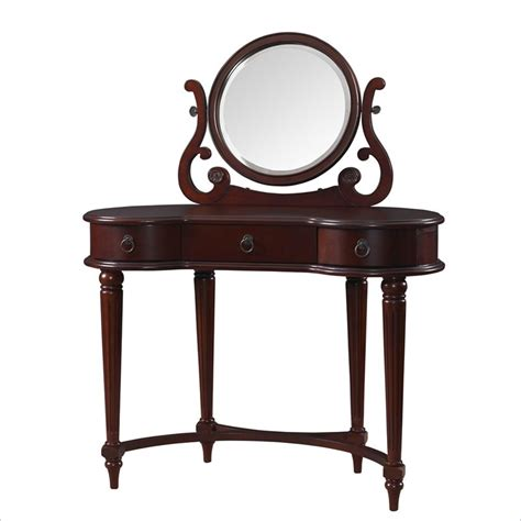 Vintage Bedroom Vanity With Mirror Powell Bombay Empress Vanity Mirror Vintage Mahogany