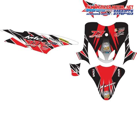 Stiker Striping Skotlet Decal Sticker Motor Yamaha Mio Soul Gt Fi 1 modifikasi stiker striping motor aksesoris motor garskin