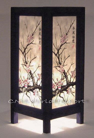 japanese cherry blossom home decor asian oriental table desk home decor lamp light