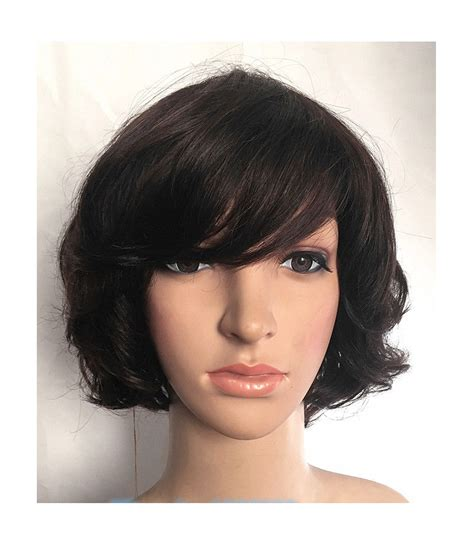 hair wigs human hair short wavy wig hairturners
