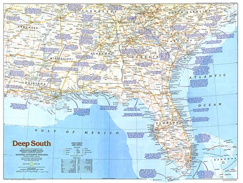 map of the south south map