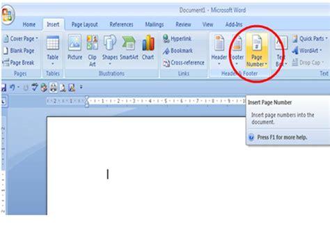 cara membuat penomoran halaman pada ms word 2010 cara membuat nomor halaman otomatis pada microsoft word
