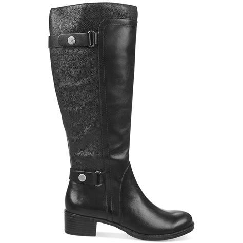 black boots wide calf franco sarto crash wide calf boots in black lyst