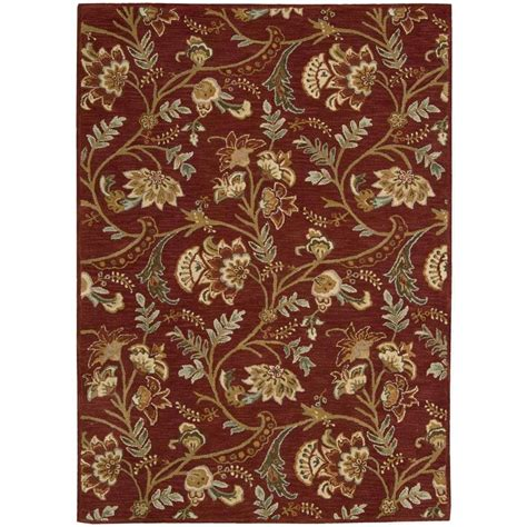 Nourison Overstock Firenze Red 8 Ft X 11 Ft Area Rug Area Rugs 8