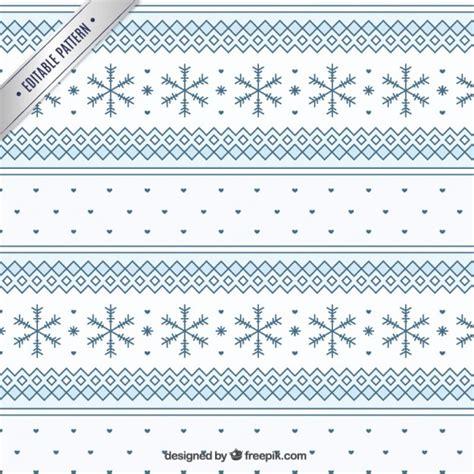 snowflake geometric pattern geometric winter pattern with snowflakes vector premium