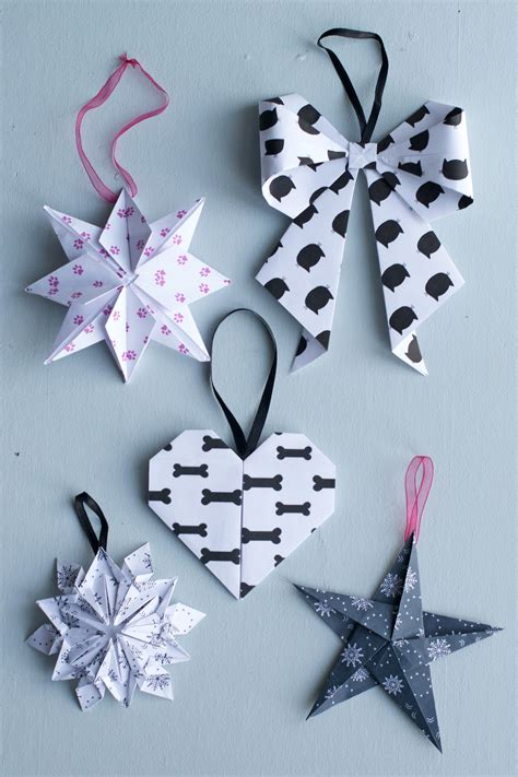 diy ornaments origami diy origami julpynt hungry