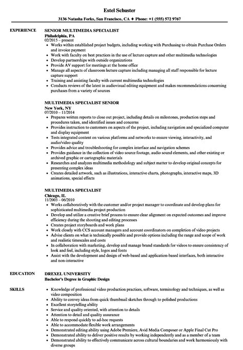 linear executive format resume template multimedia specialist resume sles velvet