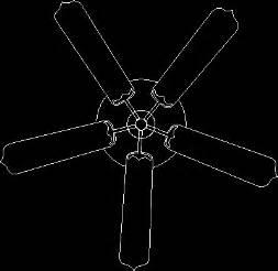 ceiling fan   blades  dwg block  autocad
