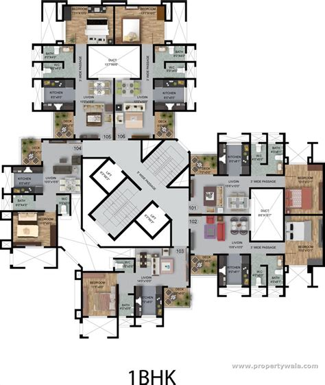 1bhk floor plan kul ecoloch mahalunge pune apartment flat project