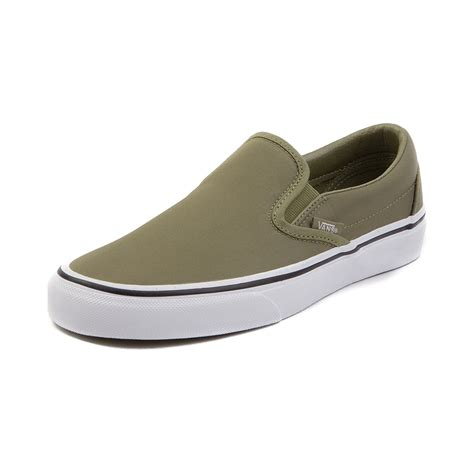 Vans Slipon vans slip on skate shoe green 497114
