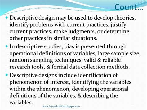 descriptive design meaning nonexperimental research design