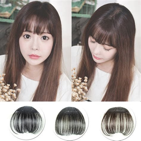 fake bangs clip for thin hair fashion women air thin synthetic hair bangs translucent