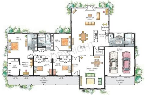 floor plan modern family house best of modern house plans
