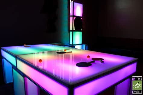Led Pong Table led ping pong table event rental