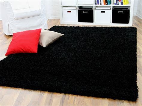 teppiche schwarz hochflor langflor shaggy teppich aloha schwarz teppiche