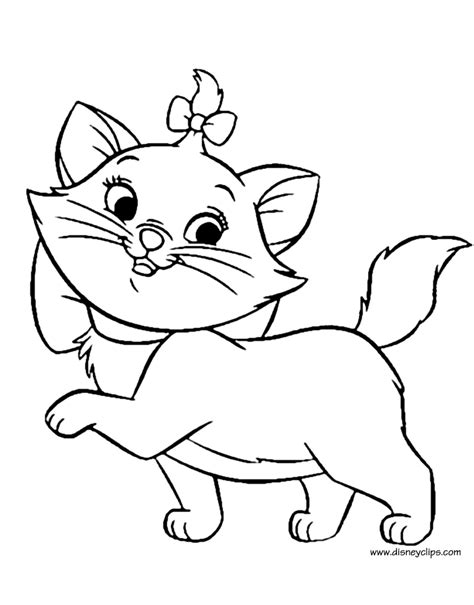 marie cat coloring pages coloring pages