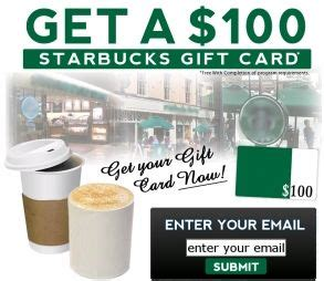 100 Dollar Starbucks Gift Card - 124 best free gift cards images on pinterest free gift cards free stuff and free gifts