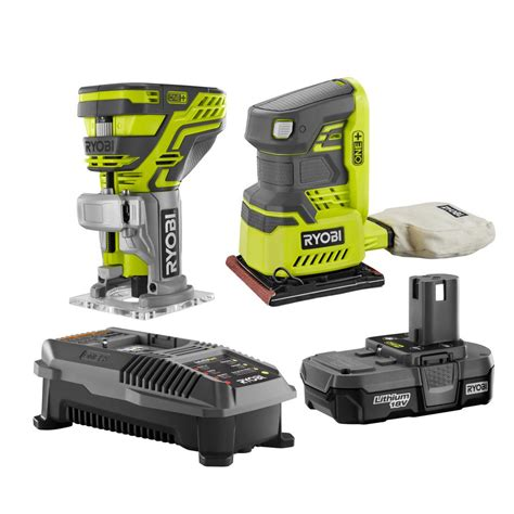 ryobi 18 volt one cordless lithium ion 2 tool woodworking