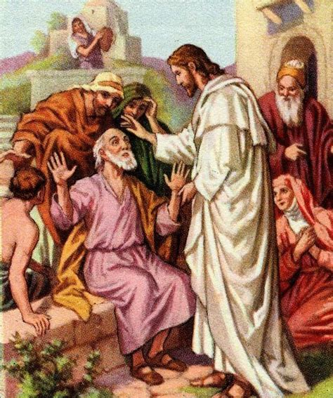 Who Was Blind In The Bible blind bartimaeus artwork about jesus