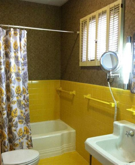 yellow and brown bathroom 38 yellow bathroom tile ideas and pictures