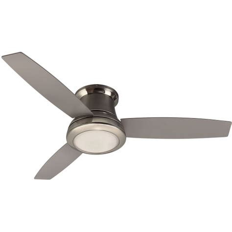 flush mount ceiling fan with light kit and remote shop harbor sail 52 in brushed nickel flush