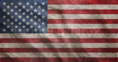 rugged american flag weathered usa flag grunge rugged condition waving stock photo colourbox