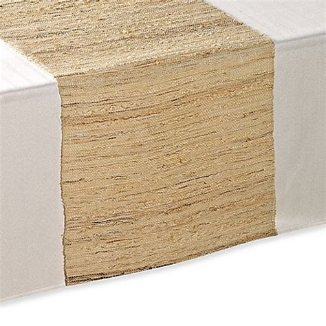 table runners bed bath and beyond raffia table runner in natural bed bath beyond