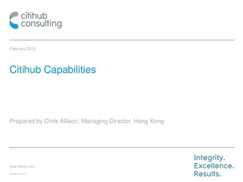 citihub consulting capabilities presentation