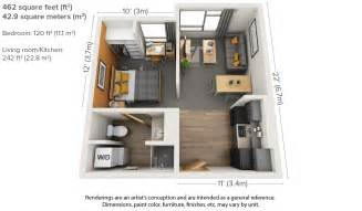 One Bedroom Floor Plans one bedroom floor plan of the new aggie apartments