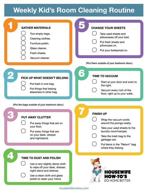 bedroom cleaning checklist 17 best ideas about weekly cleaning checklist on pinterest