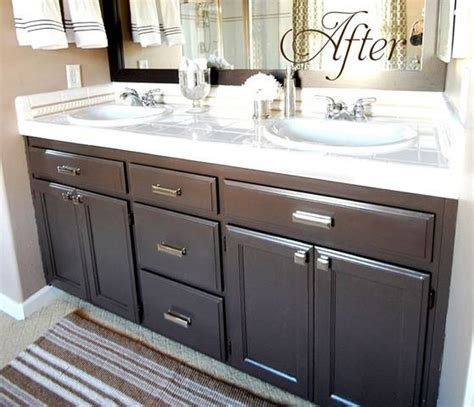 how to paint bathroom cabinets dark brown budget bathroom makeover linky centsational girl