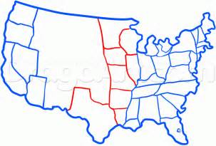 us map easy to draw how to draw the united states step by step stuff pop
