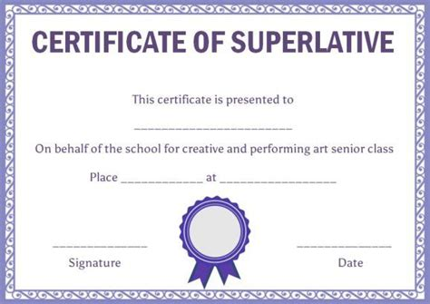 superlative certificate template class superlative certificate template superlative