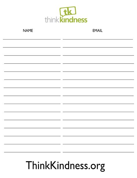 Blank Event Visitor Sign Up Sheet Microsoft Word Or Excel Template Vlashed Email Sign Up Sheet Template