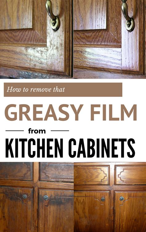 how to remove that greasy from kitchen cabinets