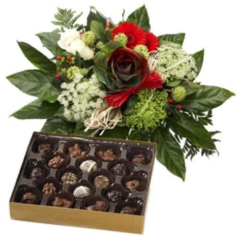 Send Flowers Uk by Greetings Bouquet And Chocolates To Netherlands