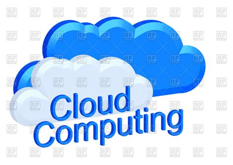 royalty free clipart cloud computing concept royalty free vector clip image