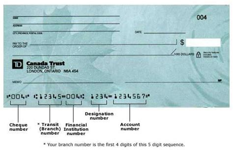 Refer To Drawer Cheque by Td Canada Trust Sle Cheque