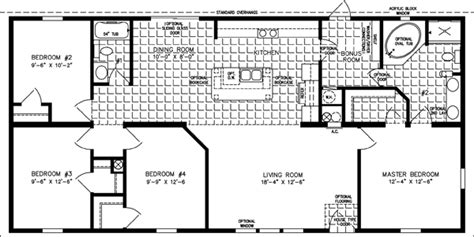 the imperial imp 46019b manufactured home floor plan the imperial model imp 45618b