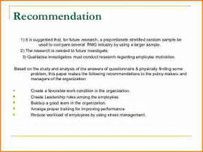 Recommendation And Conclusion In Research Paper Sample Conclusion And Recommendation For Thesis