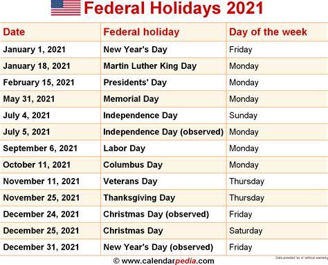 federal holidays  opm lifehackedstcom
