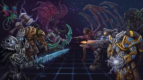 starcraft warcraft colouring warcraft vs starcraft by joedomani on