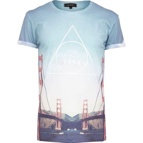 The Blue River Shirt Bombboogie river island blue san francisco bridge print t shirt in