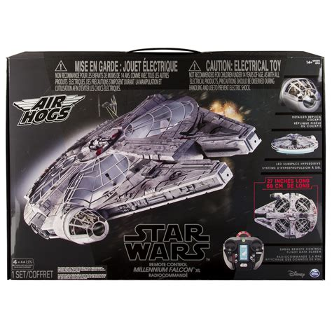 remote millennium falcon air hogs disney wars remote millennium falcon
