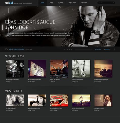 free website templates for musicians 29 best html website templates for bands musicians web