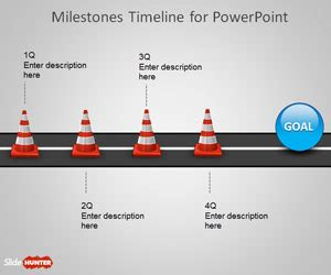 Free Milestone Shapes Timeline For Powerpoint Free Powerpoint Templates Slidehunter Com Powerpoint Milestone Template