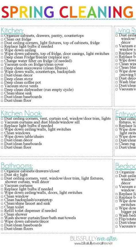 spring cleaning ideas spring cleaning tips a free checklist ask anna